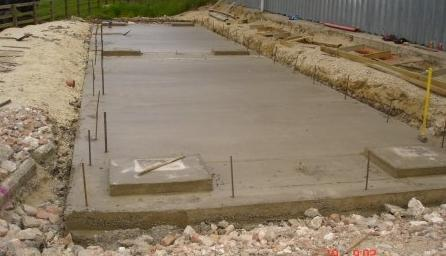 30x10 weighbridge base construction